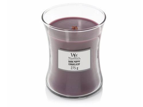 Dark Poppy Medium Woodwick Candle