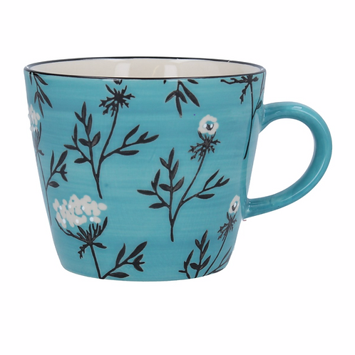 Ceramic Mug - Blue Cow Parsley