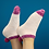Thumbnail: Pink and mauve pom-pom socks