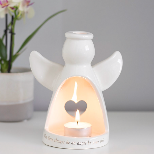 ANGEL BY YOUR SIDE TEALIGHT HOLDER