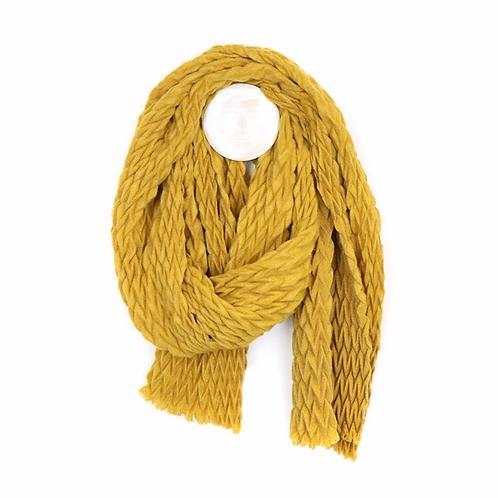 Soft textured mustard scarf