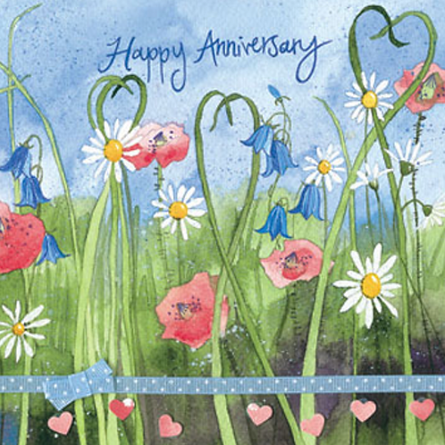 Meadow Flowers Anniversary Card
