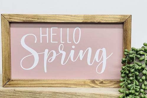 Hello Spring Plaque