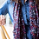 Thumbnail: Navy blue, red and pink print recycled scarf