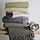Thumbnail: Cotton Throw 150cm - Navy Woven Stab Stitch