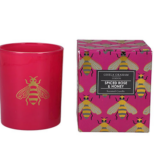 Boxed Scented Candle - Fuchsia Bees