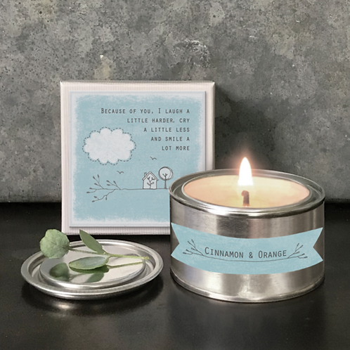Boxed candle-Because of you