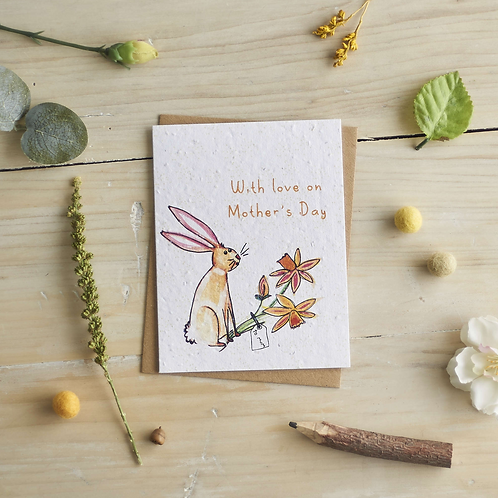 With love on Mother's Day Rabbit – Plantable seed card