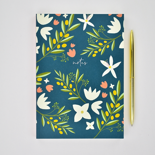 Floral Notes Notebook