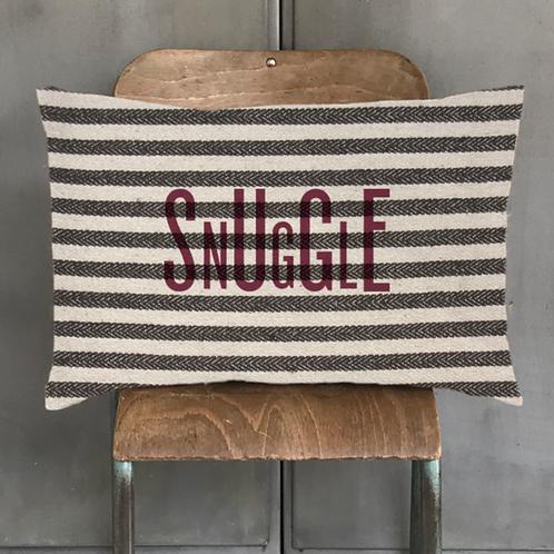 Long cushion-Wide stripe/ Snuggle