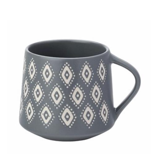Artisan Aztec Mug - Matt Grey