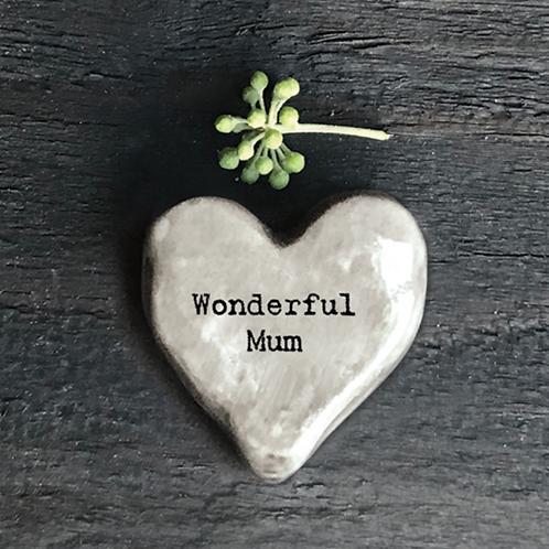 Heart token-Wonderful Mum