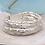 Thumbnail: Multi strand matt silver beads bracelet