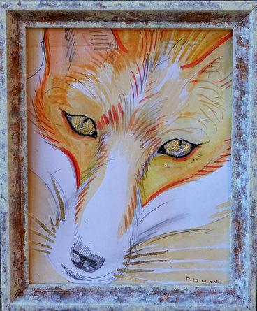 Hiplnotic Fox, 21x 25cm