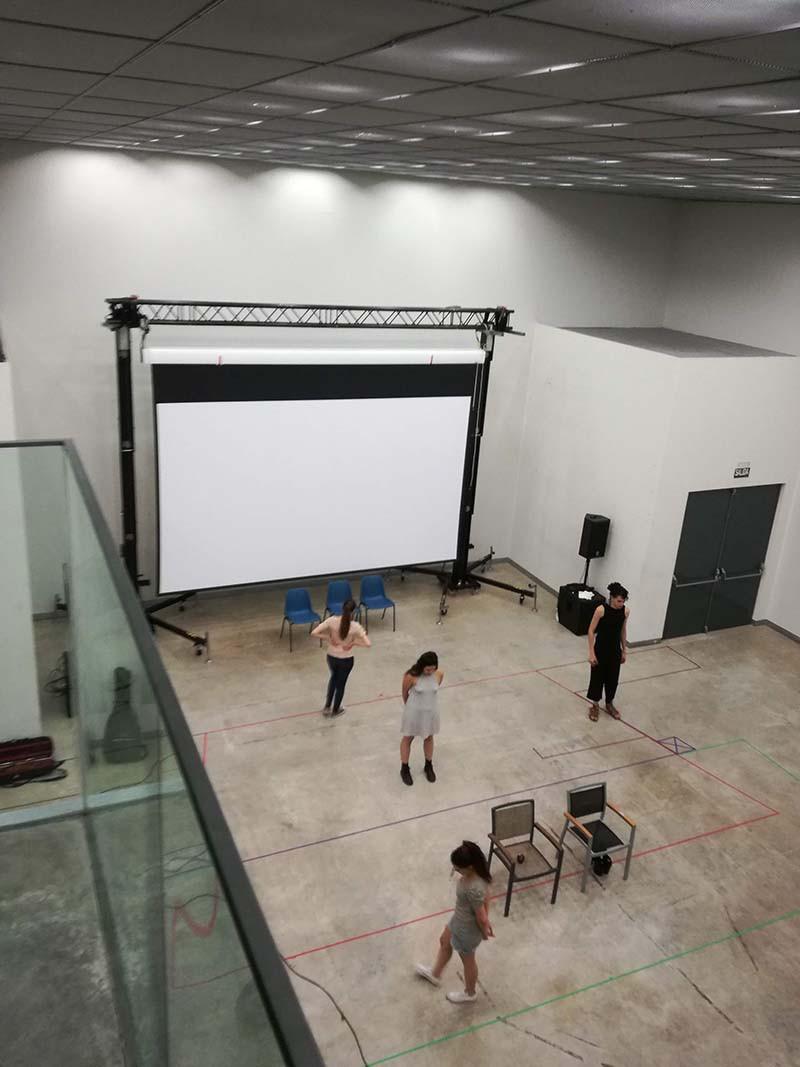 Sala de proyección del Centro Daoiz y Velarde