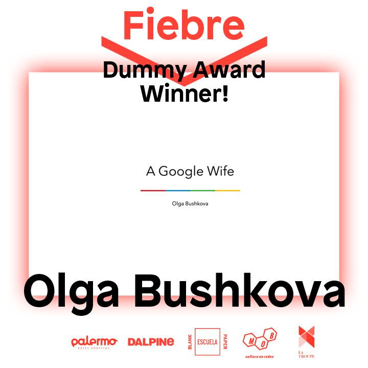 Olga Bushkova Fiebre Dummy Award 2017