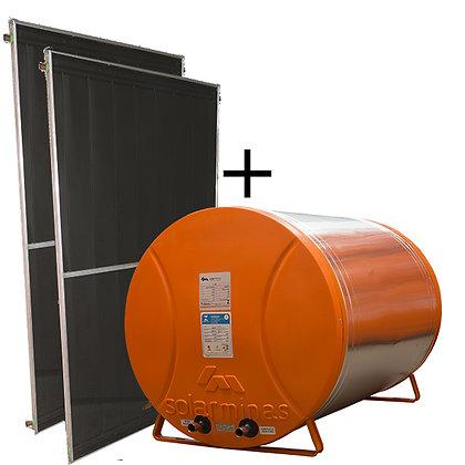 02 Placas + Boiler 400 litros