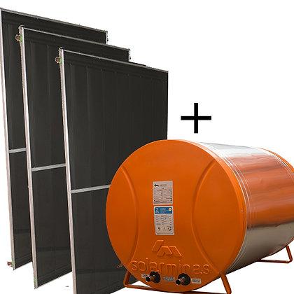 03 Placas + Boiler 500 litros
