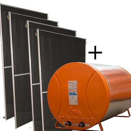 04 Placas + Boiler 600 litros