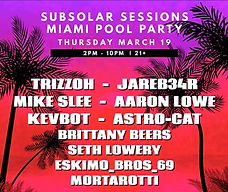 Subsolar Pool Party 2020 event flyer.
