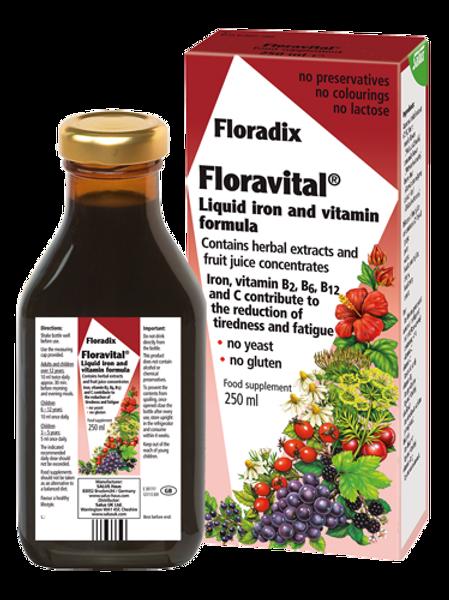 Floravital Liquid Iron & Vitamin Formula - GLUTEN FREE & VEGAN