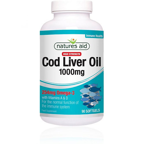 Natures Aid Cod Liver Oil 1000mg