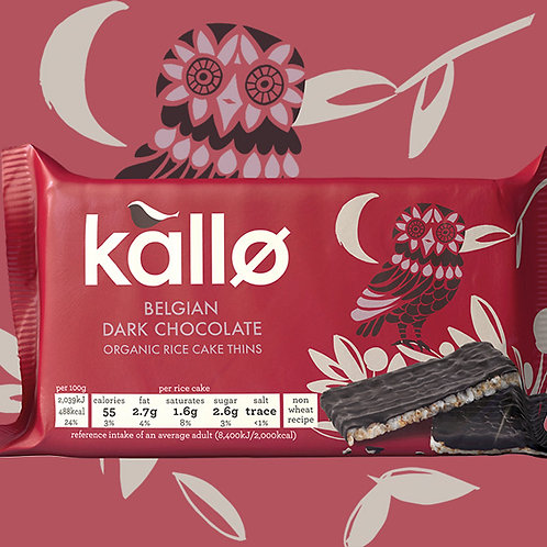 Kallo Organic Dark Choc Rice Cake Thins