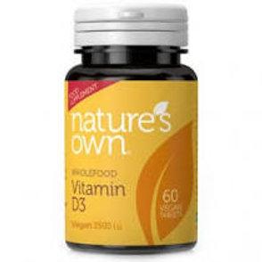 Nature's Own Vegan Vitamin D3 2500iu