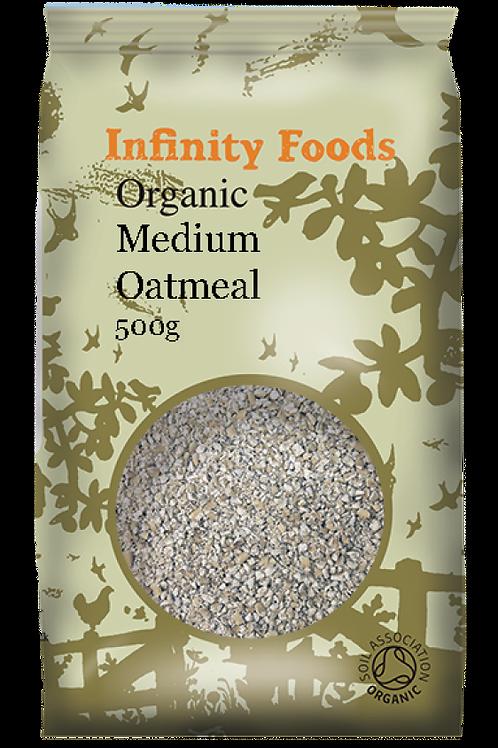 Infinity Organic Medium Oatmeal 500g