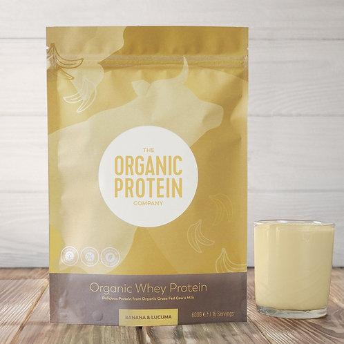 The Organic Protein Company Banana & Lucuma Whey Protein 600g