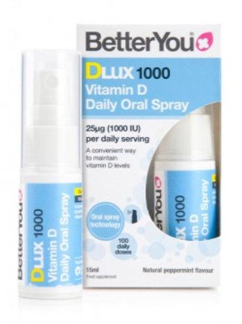 BetterYou DLux 1000 Vitamin D Oral Spray