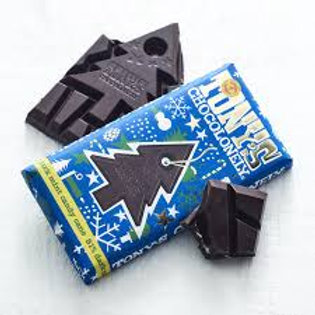 Tony's Chocolonely 51% Dark Mint Candy Cane