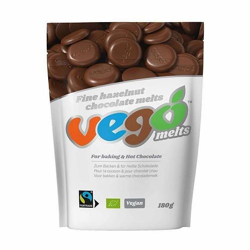 Vego Organic Fine Hazelnut Chocolate Melts 180g