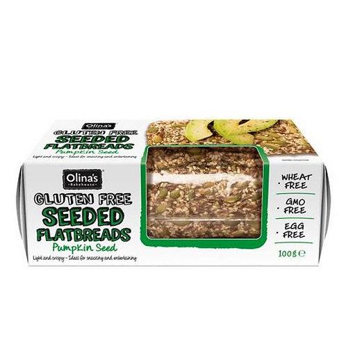 Olina's Bakehouse Gluten Free Seeded Flatbreads - Pumpkin Seed 100g