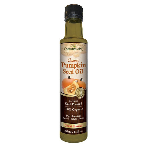 Nature's Aid Organic Pumpkin Seed Oil 250ml