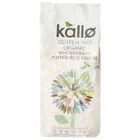 Kallo Gluten Free Organic Wholegrain Puffed Rice Cereal 225g