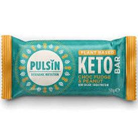 Pulsin Plant Based Keto Bar - Choc Fudge & Peanut 50g