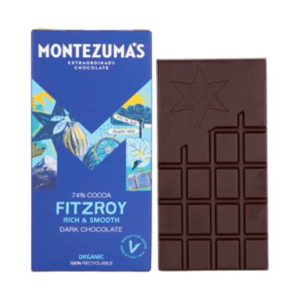 Montezuma's Fitzroy 74% Dark Chocolate 90g