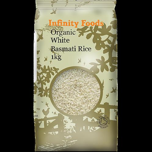 Infinity Organic White Basmati Rice 1kg