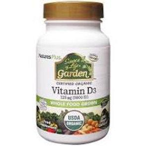 Natures Plus Source of Life Garden Vitamin D3 5000iu V Caps