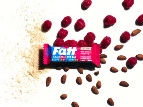 FattBar Raspberry & Almond Bar 30g