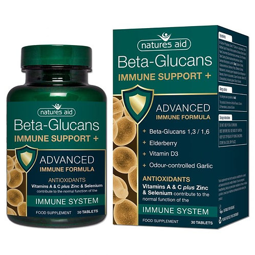 Natures Aid Beta Glucans Immune Support +