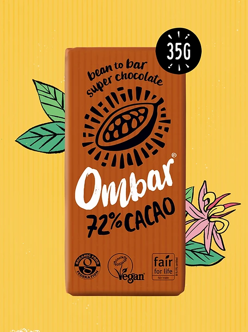 Ombar 72% Cacao Chocoate Bar