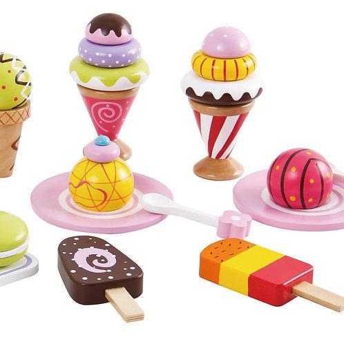 סט גלידות ומתוקים