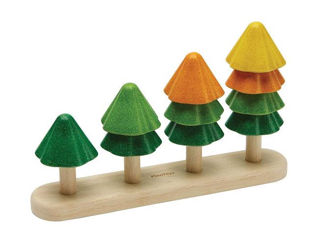 משחק ספירה ומיון - עצים