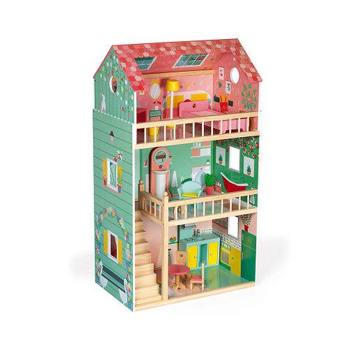 בית בובות גדול מעץ