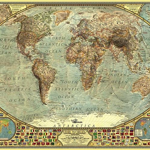 פאזל 2000 חלקים מפת העולם