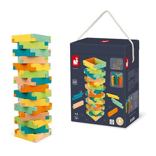 ערכת בניה מעץ 60 חלקים