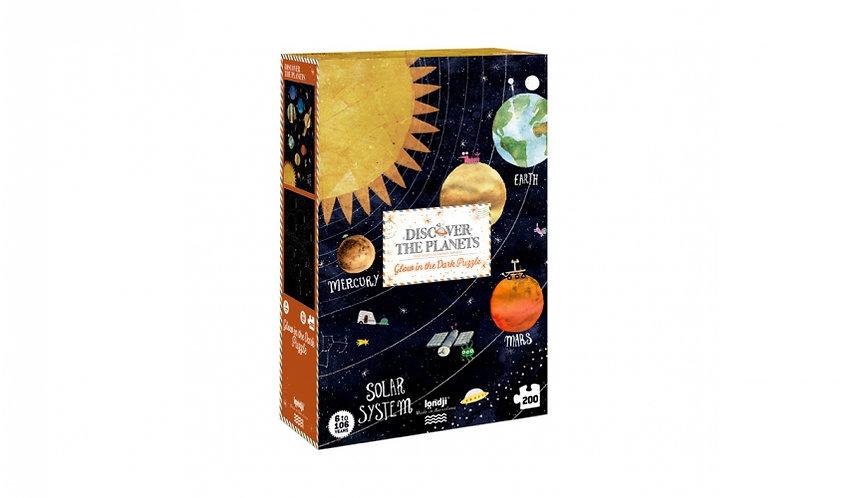 פאזל 200 חלקים מערכת השמש זוהר בחושך