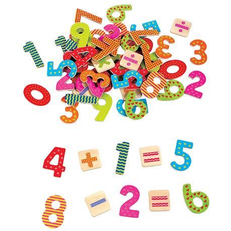 מספרים מגנטיים מעץ